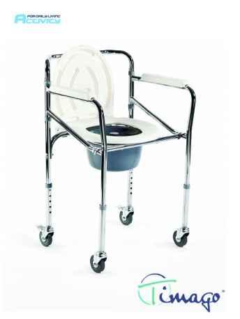 Krzesło toaletowe na kółkach (składane) Timago FS 696