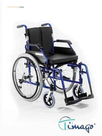 Wózek inwalidzki aluminiowy Timago TGR-R WA 4000 (z szybkozłączką) (łamane oparcia)