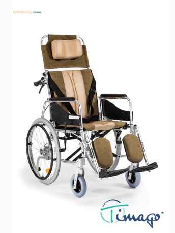 Wózek inwalidzki aluminiowy stabilizujący plecy i głowę - Timago ALH 008