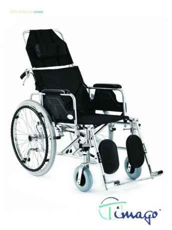 Wózek inwalidzki aluminiowy stabilizujący plecy i głowę - Timago FS 954 LGC