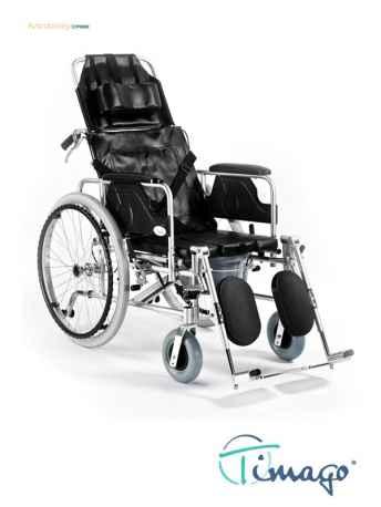 Wózek inwalidzki aluminiowy stabilizujący plecy i głowę z funckją toaletową