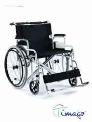 Wózek inwalidzki stalowy z dodatkową stabilizacją poprzeczną ramy Timago FS 209AE-61
