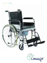 Wózek inwalidzki toaletowy (koła tylne pełne) Timago FS 681 / FS 681U