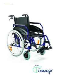 Wózek inwalidzki aluminiowy z hamulcem pomocniczym Timago TGR-R WA 163-1 (z szybkozłączką)
