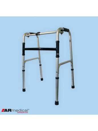 Balkonik aluminiowy składany, krocząco-stały. Pojedyncza rama H - ARmedical AR-001