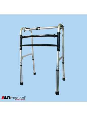 Balkonik aluminiowy składany, krocząco-stały. Podwójna rama H - ARmedical AR-002