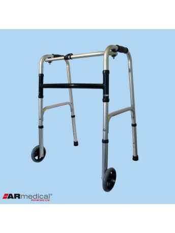 """Balkonik aluminiowy składany, dwukołowy - koła 5"""" - ARmedical AR-003"""