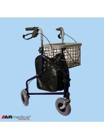 Balkonik trójkołowy z torbą i koszykiem - ARmedical AR-004