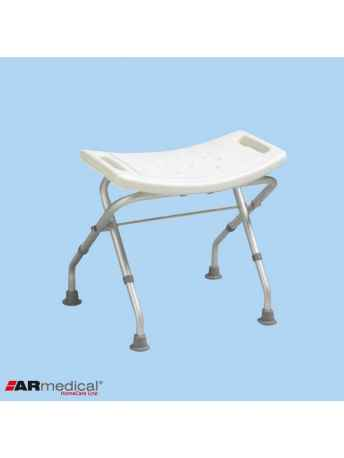 Taboret prysznicowy składany ALUMINIOWY - AR-205 - ARmedical