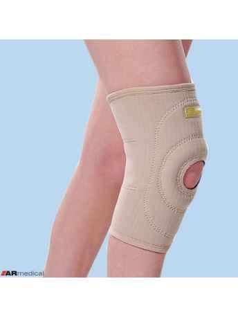 Neoprenowy stabilizator stawu kolanowego wciągany z osłoną rzepki SP-207 - ARmedical