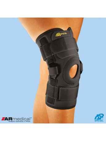 Neoprenowa orteza stawu kolanowego z regulacją kąta zgięcia – wciągana SP-A-825 - ARmedical