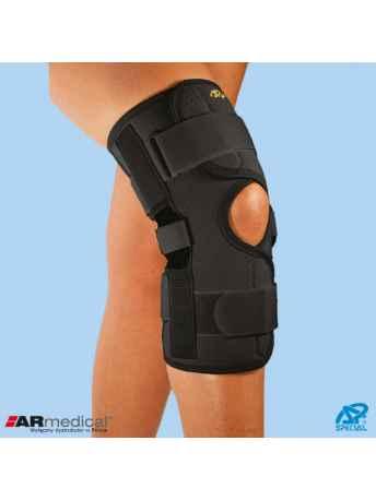 Neoprenowa orteza stawu kolanowego z regulacją kąta zgięcia – zapinana SP-A-826 - ARmedical