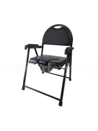 Krzesło toaletowe tapicerowane - składane - ARmedical AR-102