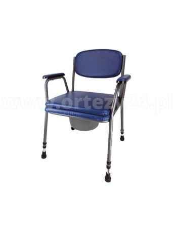 Krzesło toaletowe tapicerowane z miękkim wyłożeniem - ARmedical AR-103